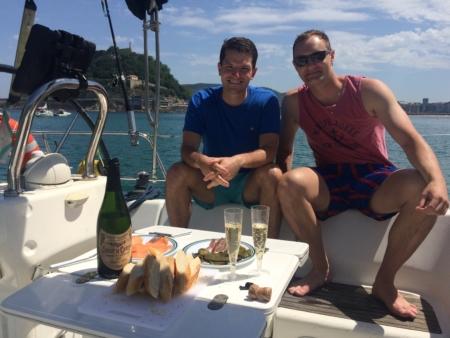 lunch in the bay of san sebastian