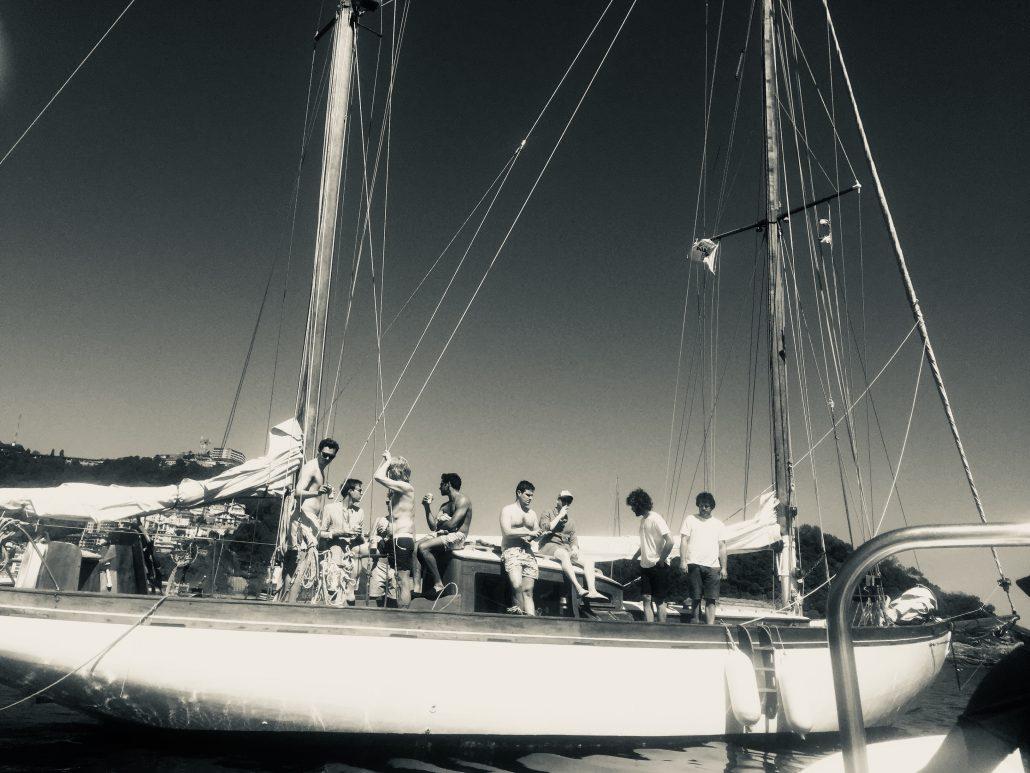 Sailing in the bay of San Sebastian