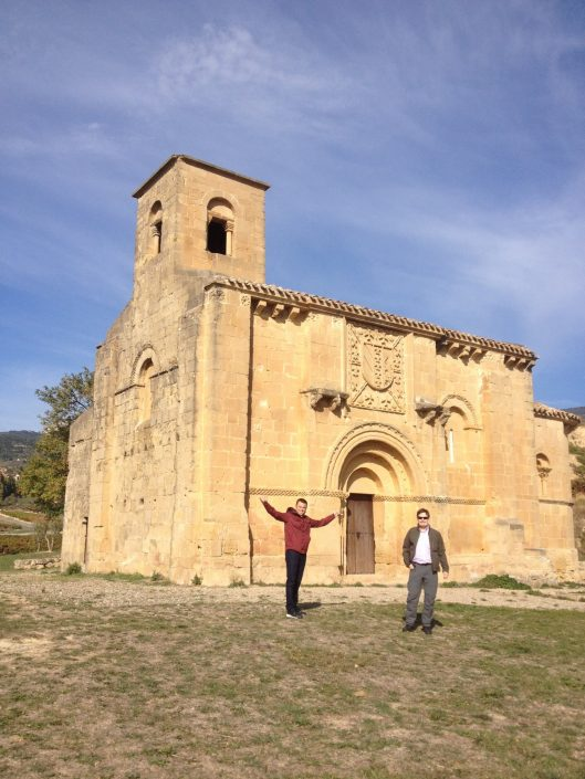 """romanesque style church in Rioja"""