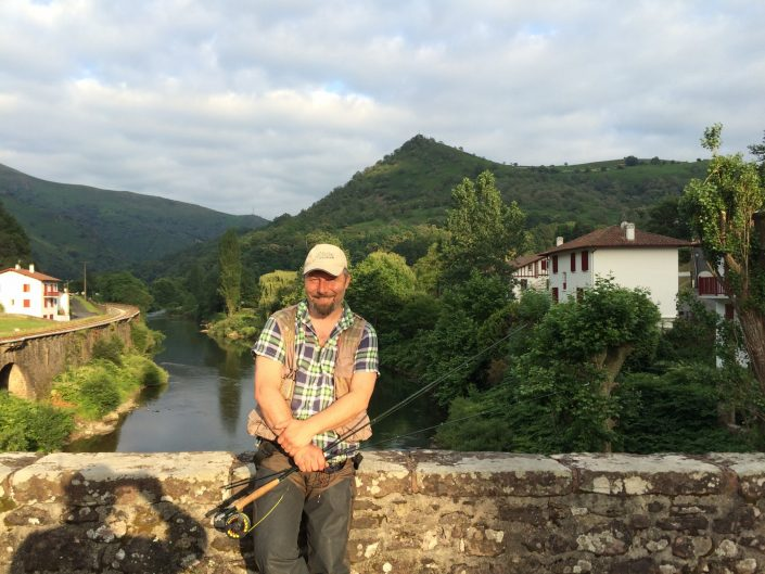 """trout fishing in San Sebastian mountains"""