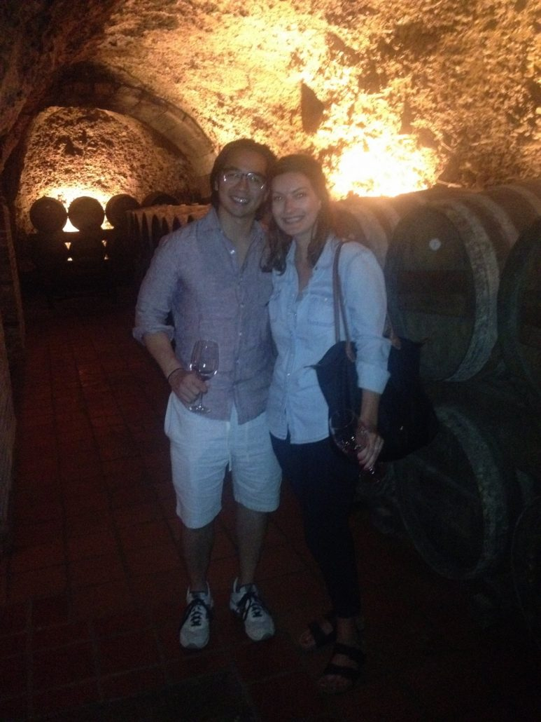 """wine tasting in the caves of Laguardia"""