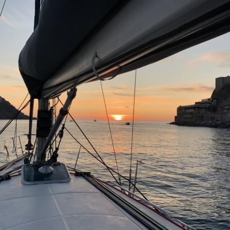sunset in la concha bay